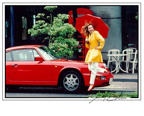 Photo of Girl with Red Porche
